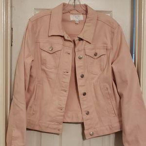 Time and Tru pink denim jacket NWOT sz XL